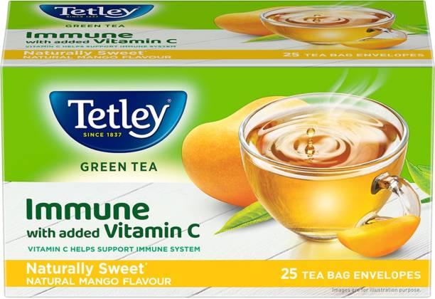 tetley Naturally Sweet Mango Green Tea Bags Box