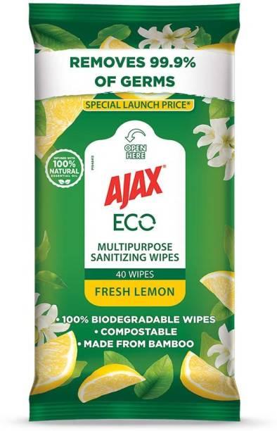 Ajax Eco Multipurpose Sanitizing Wipes (Fresh Lemon/40 Wipes)