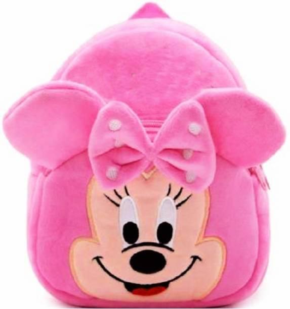 Seltos Kids Bags for School Nursery Picnic Carry Travelling Bag - 2 to 5 Age Baby Boys Girls Velvet Backpack Velvet KidS Car Toys Plush Bag