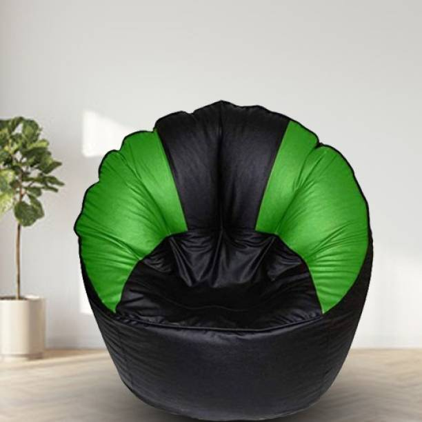 SHIRA 24 Jumbo Chair Bean Bag Cover  (Without Beans)