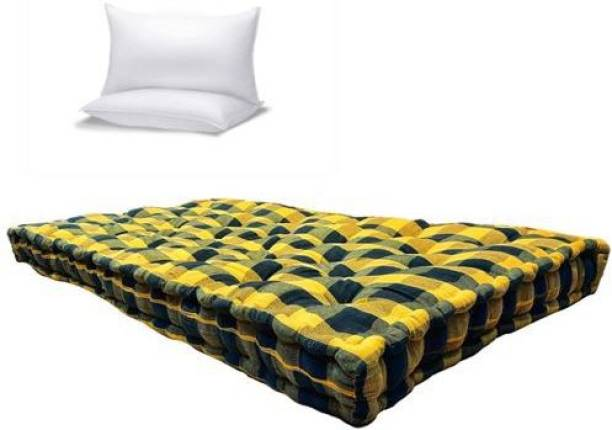 Anand Textile 5 INCH THICK 3X6 COTTON MATTRESS WITH PILLOW 5 inch Single Cotton Mattress