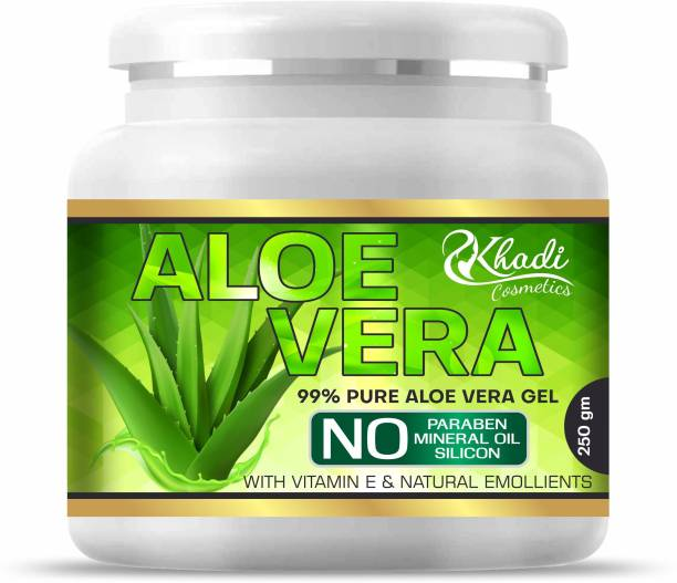 Khadi Cosmetics 100% Pure Aloe Vera Gel For Young and Radiant Skin and Hair