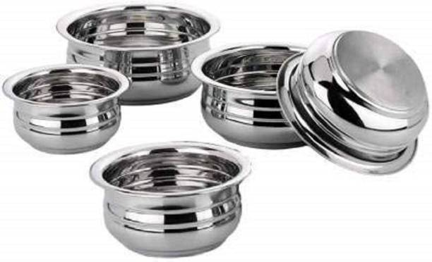 RBGIIT 5 Pic Stainless Steel Silver Steel Bottom Kitchen Spacial Cooking Mixing Bowls Sets Of 5 Pic Stainless Steel Disposable Mixing Bowl