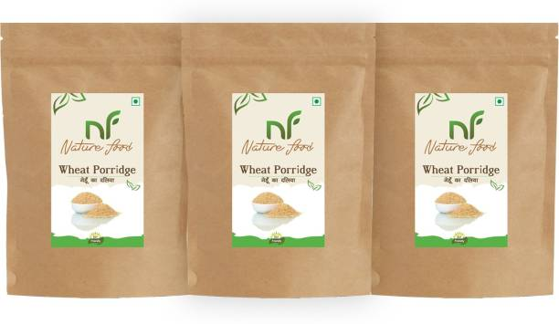 Nature food Best Quality Wheat Porridge /Gehun Daliya - 3kg (1kgx3)