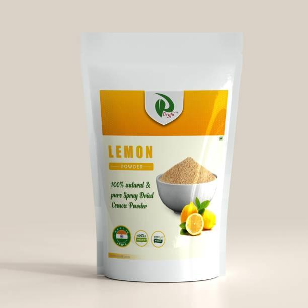 Dryfii Natural Spray Dried Organic Lemon Powder (Nimbu) No Preservatives Vegan Gluten Free Ready To Use (250g)