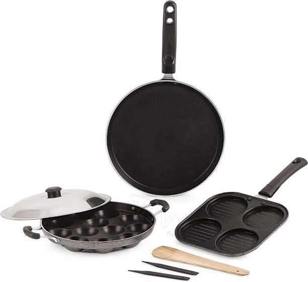 iVBOX ® Eco-DAU Non-Stick Kitchen Gift Set- Dosa Tawa, Appam Maker and Grill Uttapam Pan Cookware Set