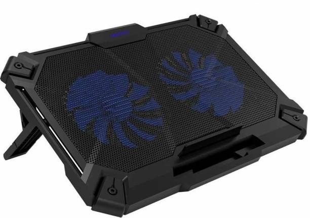 coolcold K35 Laptop Cooler Cool,Gaming Cooling Pads,Adjustable Stand pad,Led Light,USB Powered with Air Wind Speed Fan for 12-17 inch Laptops Notebook 2 Fan Cooling Pad