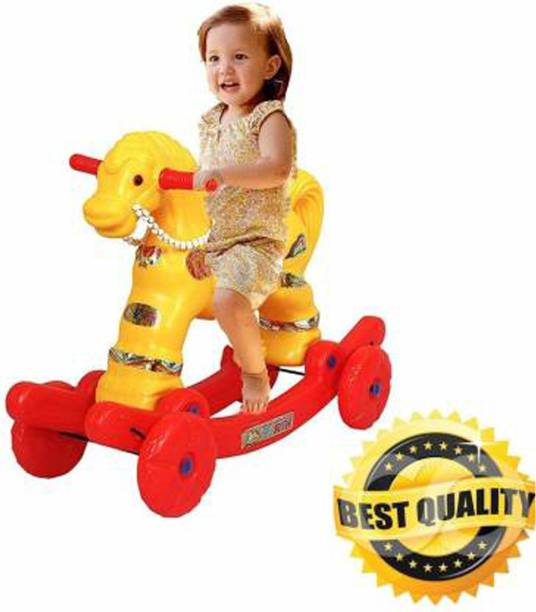 Shiv Online Toys 2 in 1 Baby Horse Rider | Rocker for Kids 1-2.5 Years Baby Birthday Gift for Kids/Boys/Girls (Multicolour) Rideons & Wagons Non Battery Operated Ride On
