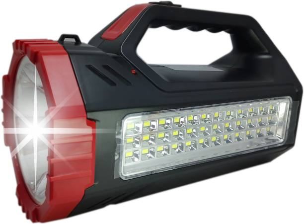 ELECTRO SHOPEE 1000 Meter Long Range Emergency Light With 100 W Laser Led Large Torch And 36 SMD Ultra Bright LED Side Lights With Strong ABS Body & Dual Function Mode & Fast Rechargeable. Torch Emergency Light