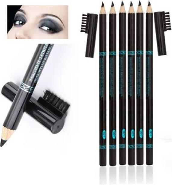 SARA BEAUTY Perfect Waterproof & Long lasting Eyebrow Pencil Combo of 6