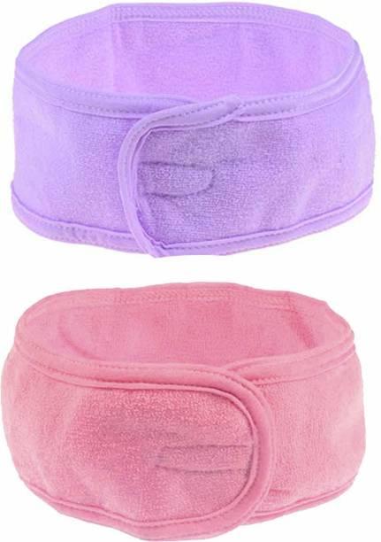 twirey Polycotton non slip Stretchable Elasticized Adjustable Facial Headband Makeup Headband Makeup Headband