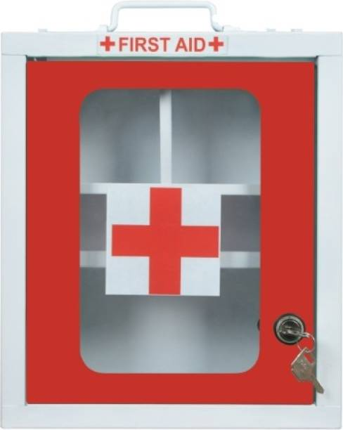 Spylock FIRST AID BOX FIRST AID KIT BOX MEDICAL BOX EMERGENCY BOX WALL MOUNT BOX Surface Mounting Medicine Cabinet