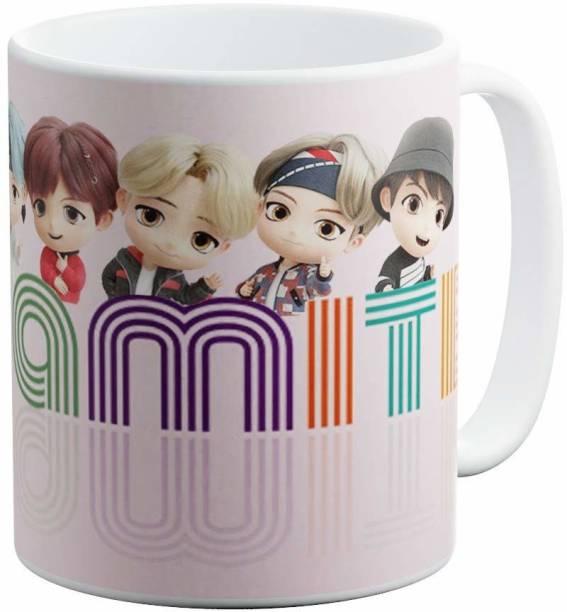 TGC THE GIFT COMPANY BTS Bangtan Boys Dynamite Theme Fan Art Printed | Ceramic Tea | Coffee | Gift for Ceramic Coffee Mug