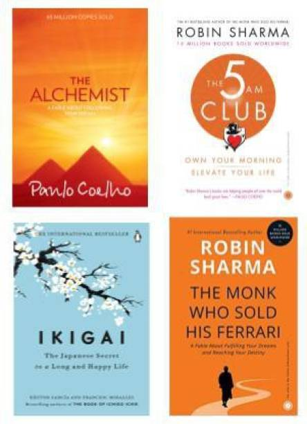 The Monk Who Sold His Ferrari + IKIGAI + The 5 AM Club + The Alchemist
