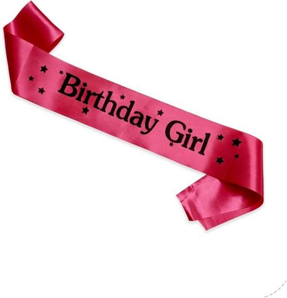 gorgeous moment Happy Birthday Girl Satin Sash decoartive