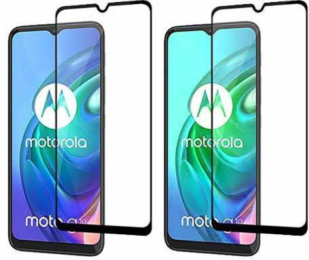 candeal mart Edge To Edge Tempered Glass for Motorola Moto G10 Power