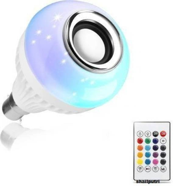 Shailputri TM 18 Colour Changing Smart Led Music Bulb Remote Controller Bluetooth Music Bulb With 7W LED And 3W Speaker For Party Home Decor Music Bulb WIth Remote Smart Bulb