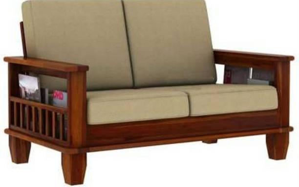 Shreya Decor Premium Solid wood 2 Seater Sofa Set Fabric 2 Seater  Sofa