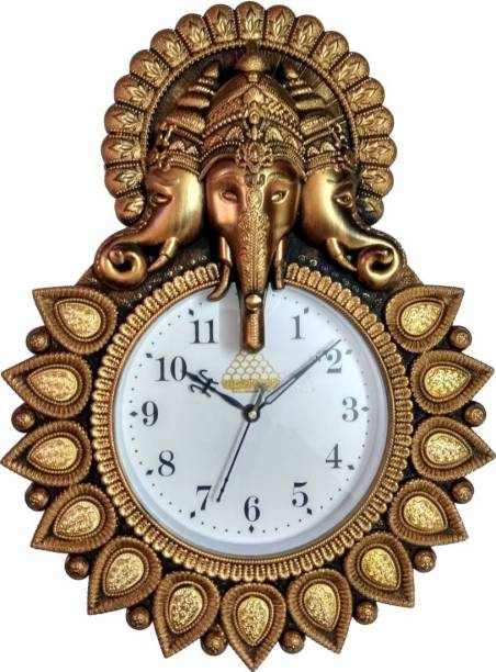 Lovekush Creations Analog 33 cm X 24 cm Wall Clock