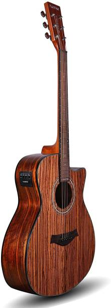 KADENCE Acoustica A05 semi acoustic guitar Zebra Wood with Bag Acoustic Guitar Rosewood Rosewood Right Hand Orientation