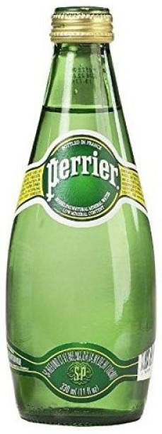 PERRIER Sparkling Natural Mineral Rich Water - 330 ML Glass Bottle