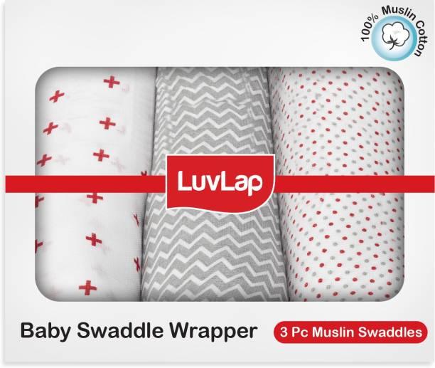 LuvLap Cartoon Single Swaddling Baby Blanket