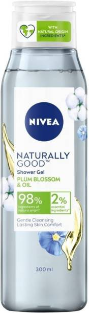 NIVEA Naturally Good Shower Gel, Plum Blossom & Oil, No Parabens. Vegan Formula with 98% Ingredients of Natural Origin, 300 ml
