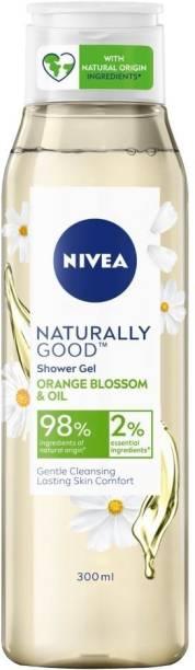 NIVEA Naturally Good Shower Gel, Orange Blossom & Oil, No Parabens, Vegan Formula with 98% Ingredients of Natural Origin, 300 ml