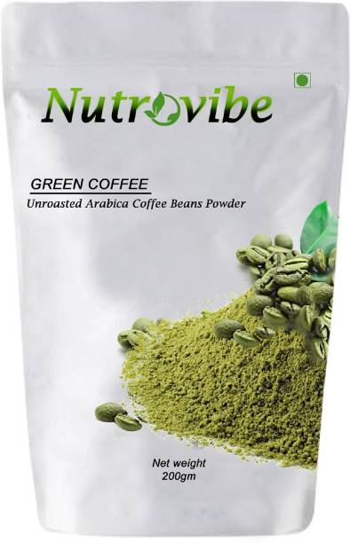 Nutrovibe Green Coffee Beans Unroasted for Weight Loss Instant Coffee