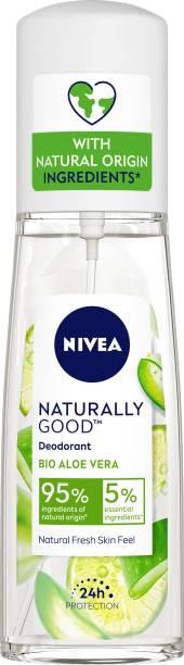NIVEA Naturally Good Deodorant, Bio Aloe Vera, 75 ml Deodorant Spray  -  For Women