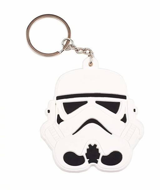 RVM Toys Double Sided Rubber for Star war Fans Storm Trooper Face Keychain Key Chain for Car Bike Men Women Keyring Key Chain
