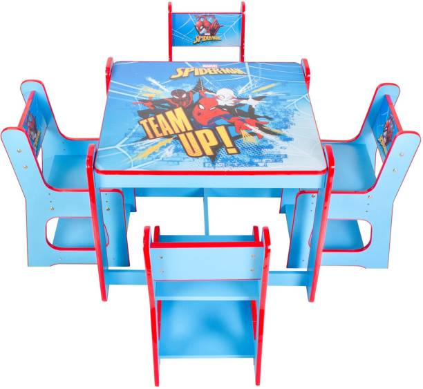 Yipi Spiderman Activity Table and 4 Chairs with Height Adjustment engineered wood Desk Chair
