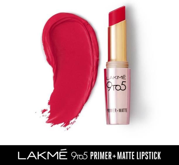 Lakmé 9TO5 Primer + Matte Lip Color Iconic Red