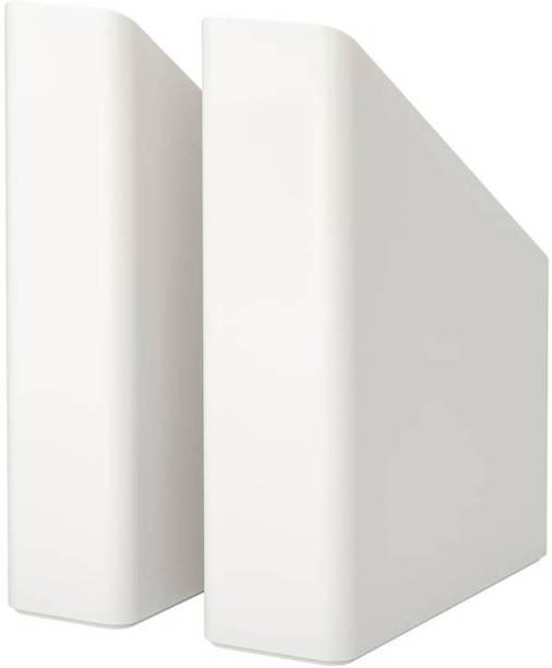 IKEA Magazine file set of 2, white Floor Standing Magazine Holder