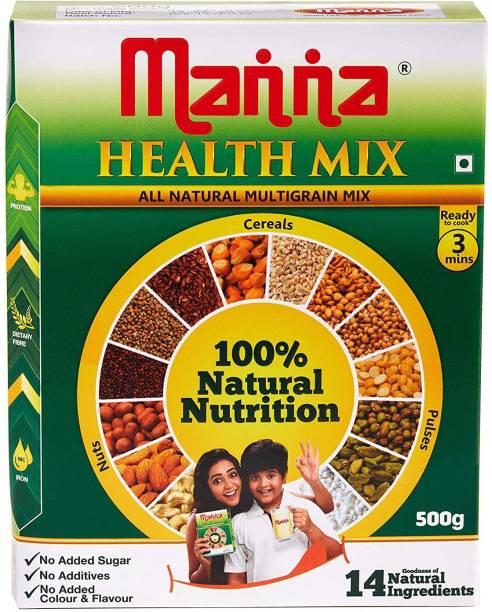 Manna Millet Health Mix 500g   Sathu Maavu for Babies   100% Natural Millet Multigrain Nutrition Drink for Kids   14 Natural Ingredients 500 g