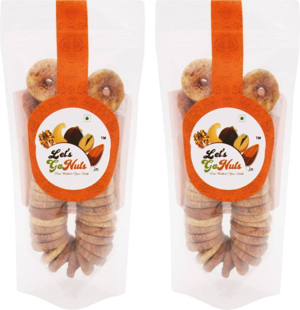 Let's GoNuts Fresh & Pulpy Dried Figs / Anjeer 150gx2 Figs