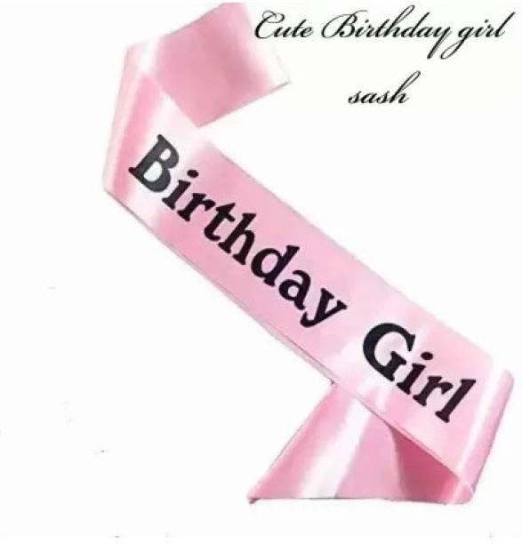 gorgeous moment Happy Birthday sash (Birthday Girl Sash) Sweet & beauty Birthday Girl / Pink happy birthday girl sash