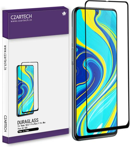 CZARTECH Tempered Glass Guard for Mi 10i, Mi Redmi Note 9 Pro, Mi Redmi Note 9 Pro Max, Poco X2, Poco X3, K30