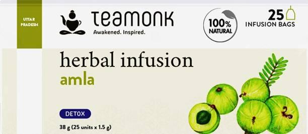 Teamonk Caffeine Free Amla Herbal Infusion Bags Box
