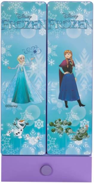 Yipi Frozen Storage Kids Wardrobe With Drawer Engineered Wood 2 Door Wardrobe