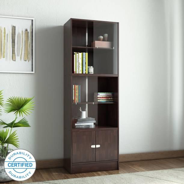WOODNESS Venice Engineered Wood Semi-Open Book Shelf