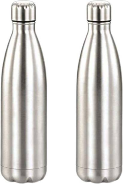 Anadya by HomAce Combo of Stainless Steel Single Wall Refrigerator Water Bottles 500 ml Bottle