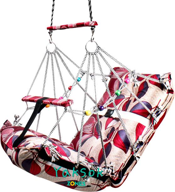 KD CREATION Cotton, Wooden, Brass, Stainless Steel, Polyester Small Swing