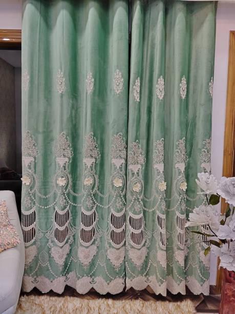 Rainbow Furnishings 275 cm (9 ft) Velvet Door Curtain Single Curtain