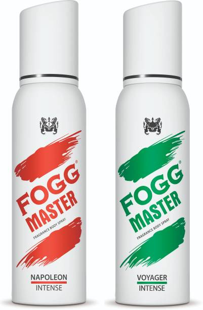 FOGG Master Intense (Napoleon + Voyager) 240ml Body Spray  -  For Men