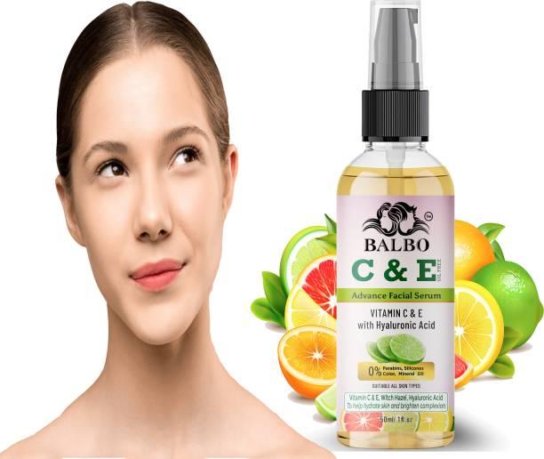 BALBO Light Complete Vitamin C Booster Serum 50 ml - 3 Days to Spotless, Bright Skin | Light Texture Formula & Non-Oily Face Serum