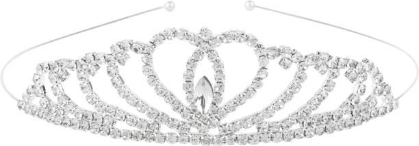 Aaishwarya Bridal Princess Crystal Tiara Head Band