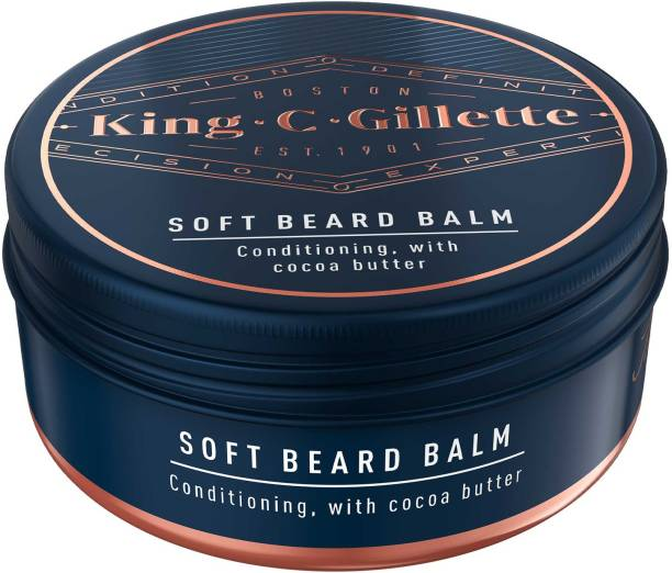King C. Gillette Men�s Soft Beard Balm, Deep Conditioning with Cocoa Butter, Argan Oil and Shea Butter Hair Oil