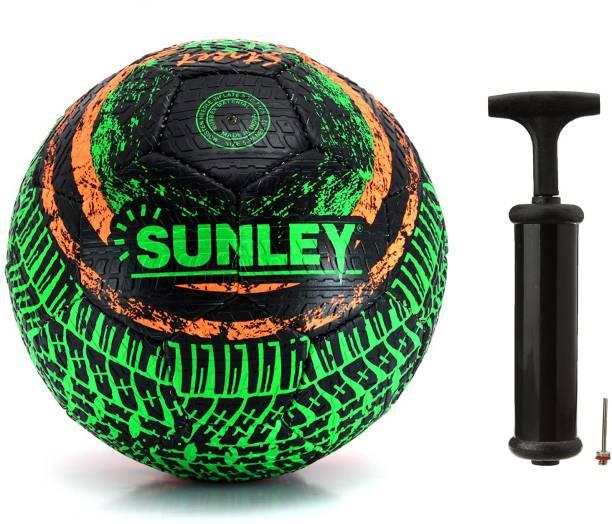 SUNLEY Street Football Ball Size 5 with 1 Pc Air Pump Football Kit