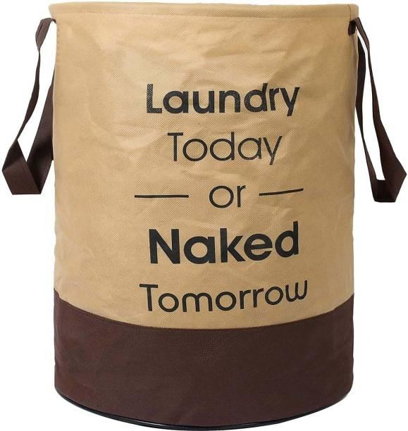 Unicrafts 45 L Beige, Brown Laundry Bag